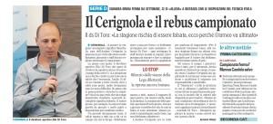 gazzetta sport 27-3-20 solo cerignola